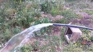 Prueba de bombeo de agua